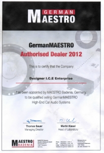 German_Maestro_DESIGNER_ICE_Authorised_Dealer